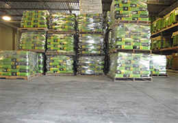 Product stored at warehouse